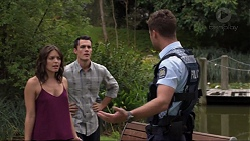 Paige Smith, Jack Callahan, Mark Brennan in Neighbours Episode 7364