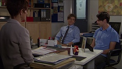 Susan Kennedy, Angus Beaumont-Hannay, Ben Kirk in Neighbours Episode 7364