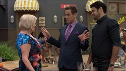 Sheila Canning, Aaron Brennan, Nate Kinski in Neighbours Episode 7364