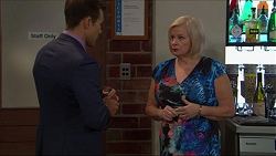 Aaron Brennan, Sheila Canning in Neighbours Episode 7365