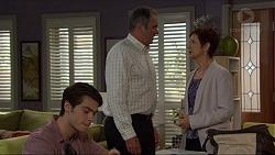 Ben Kirk, Karl Kennedy, Susan Kennedy in Neighbours Episode 7365