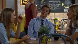 Piper Willis, Angus Beaumont-Hannay, Xanthe Canning in Neighbours Episode 7365