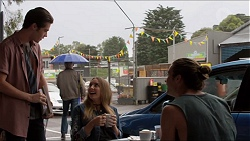Ben Kirk, Piper Willis, Tyler Brennan in Neighbours Episode 7365