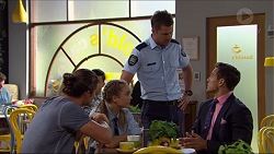 Tyler Brennan, Piper Willis, Mark Brennan, Aaron Brennan in Neighbours Episode 7366