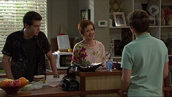 Ben Kirk, Susan Kennedy, Angus Beaumont-Hannay in Neighbours Episode 7369