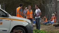 Nate Kinski, Paul Robinson, Aaron Brennan in Neighbours Episode 7369
