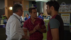Karl Kennedy, Aaron Brennan, Nate Kinski in Neighbours Episode 7370