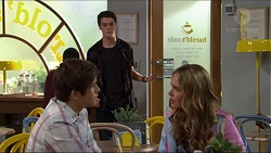 Angus Beaumont-Hannay, Ben Kirk, Xanthe Canning in Neighbours Episode 7370