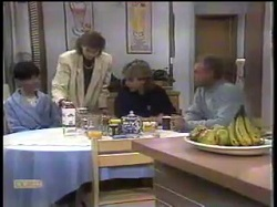 Hilary Robinson, Beverly Marshall, Nick Atkins, Jim Robinson in Neighbours Episode 0862