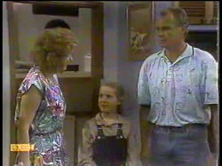 Madge Bishop, Katie Landers, Jim Robinson in Neighbours Episode 0866