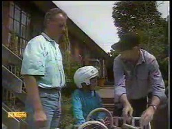 Jim Robinson, Toby Mangel, Joe Mangel in Neighbours Episode 0866