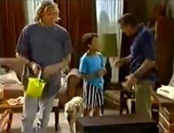 Brad Willis, Bouncer, Toby Mangel, Doug Willis in Neighbours Episode 1574