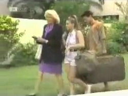 Madge Bishop, Lucy Robinson, Josh Anderson in Neighbours Episode 1584