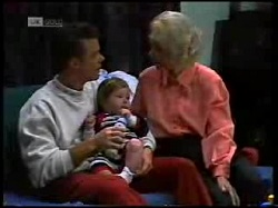 Paul Robinson, Andrew Robinson, Helen Daniels in Neighbours Episode 1698