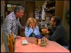 Lou Carpenter, Madge Bishop, Doug Willis in Neighbours Episode 1698