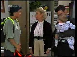 Rick Alessi, Helen Daniels, Paul Robinson, Andrew Robinson in Neighbours Episode 1698