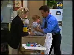 Helen Daniels, Andrew Robinson, Paul Robinson in Neighbours Episode 1698