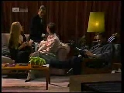 Phoebe Bright, Todd Landers, Gaby Willis, Doug Willis in Neighbours Episode 1699