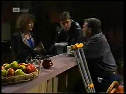 Pam Willis, Cameron Hudson, Doug Willis in Neighbours Episode 1699