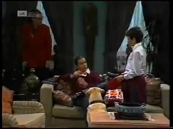 Dorothy Burke, Todd Landers, Bouncer, Toby Mangel in Neighbours Episode 1700
