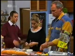 Todd Landers, Lucy Robinson, Jim Robinson in Neighbours Episode 1700