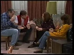 Doug Willis, Cameron Hudson, Jill Weir, Pam Willis in Neighbours Episode 1702