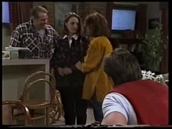 Doug Willis, Jill Weir, Pam Willis, Cameron Hudson in Neighbours Episode 1702