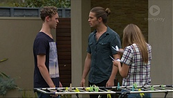 Brodie Chaswick, Tyler Brennan, Piper Willis in Neighbours Episode 7373