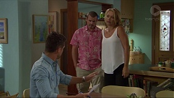 Mark Brennan, Toadie Rebecchi, Steph Scully in Neighbours Episode 7373