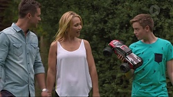 Mark Brennan, Steph Scully, Charlie Hoyland in Neighbours Episode 7373