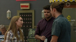 Piper Willis, Nate Kinski, Tyler Brennan in Neighbours Episode 7373