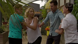 Charlie Hoyland, Steph Scully, Mark Brennan, Archie Quill in Neighbours Episode 7373