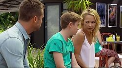 Mark Brennan, Charlie Hoyland, Steph Scully in Neighbours Episode 7374