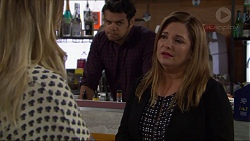 Sonya Rebecchi, Nate Kinski, Terese Willis in Neighbours Episode 7374
