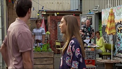 Ben Kirk, Angus Beaumont-Hannay, Piper Willis, Karl Kennedy, Susan Kennedy in Neighbours Episode 7375