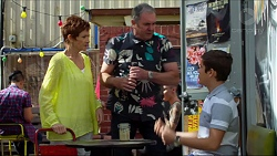 Susan Kennedy, Karl Kennedy, Angus Beaumont-Hannay in Neighbours Episode 7375