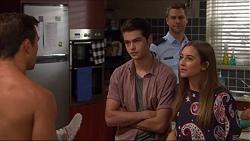 Aaron Brennan, Ben Kirk, Mark Brennan, Piper Willis in Neighbours Episode 7376