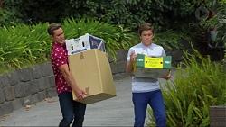 Aaron Brennan, Angus Beaumont-Hannay in Neighbours Episode 7376