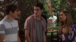 Angus Beaumont-Hannay, Ben Kirk, Piper Willis in Neighbours Episode 7376