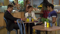 Aaron Brennan, Susan Kennedy, Nate Kinski in Neighbours Episode 7379