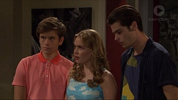 Angus Beaumont-Hannay, Xanthe Canning, Ben Kirk in Neighbours Episode 7380