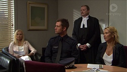 Cecilia Saint, Mark Brennan, Tipstave Roger Corr, Steph Scully in Neighbours Episode 7381