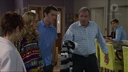 Susan Kennedy, Xanthe Canning, Ben Kirk, Karl Kennedy, Angus Beaumont-Hannay in Neighbours Episode 7383