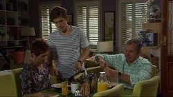 Susan Kennedy, Angus Beaumont-Hannay, Karl Kennedy in Neighbours Episode 7384