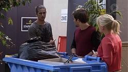 Tyler Brennan, Ned Willis, Lauren Turner in Neighbours Episode 7386
