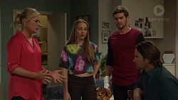 Lauren Turner, Piper Willis, Ned Willis, Brad Willis in Neighbours Episode 7387