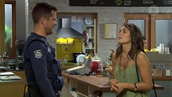 Mark Brennan, Paige Novak in Neighbours Episode 7387