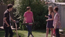 Ben Kirk, Angus Beaumont-Hannay, Xanthe Canning, Susan Kennedy in Neighbours Episode 7389