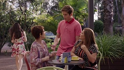 Susan Kennedy, Angus Beaumont-Hannay, Terese Willis in Neighbours Episode 7390