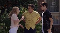 Xanthe Canning, Aaron Brennan, Ben Kirk in Neighbours Episode 7391